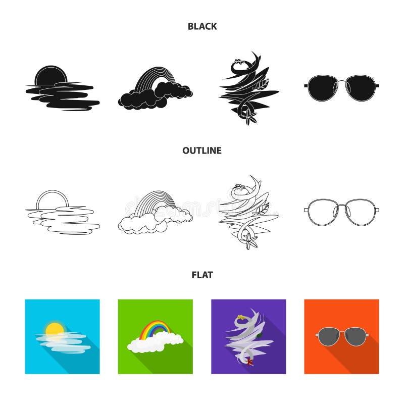 Progettazione di vettore dell'icona di clima e del tempo Raccolta dell'illustrazione di riserva di vettore della nuvola e del tem royalty illustrazione gratis