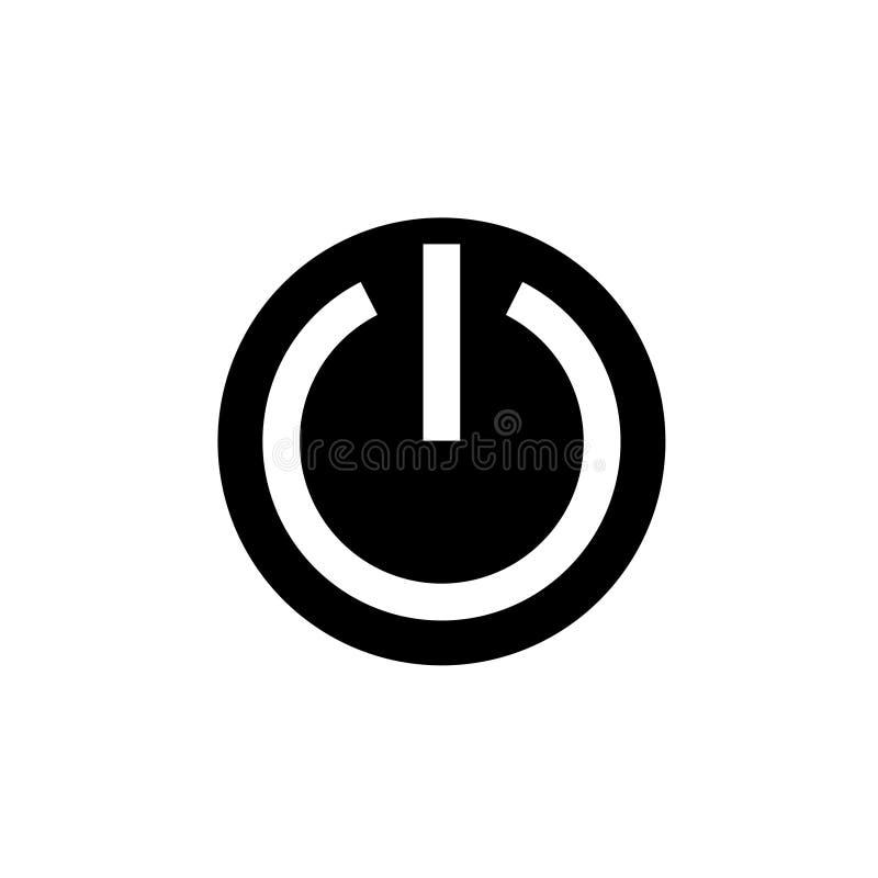 Progettazione di vettore dell'icona del bottone di potere illustrazione di stock
