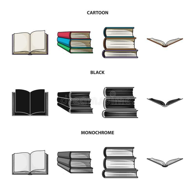 Progettazione di vettore dell'icona del manuale e delle biblioteche Raccolta dell'icona di vettore della scuola e delle bibliotec illustrazione di stock