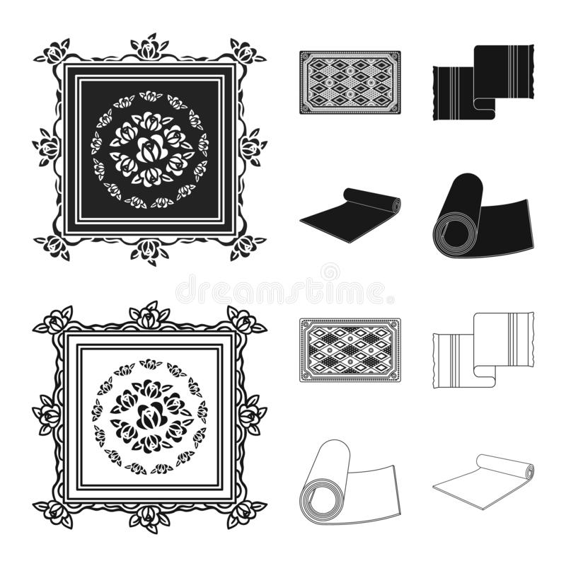 Progettazione di vettore dell'icona del persiano e del tappeto Raccolta dell'illustrazione di vettore delle azione del confine e  royalty illustrazione gratis