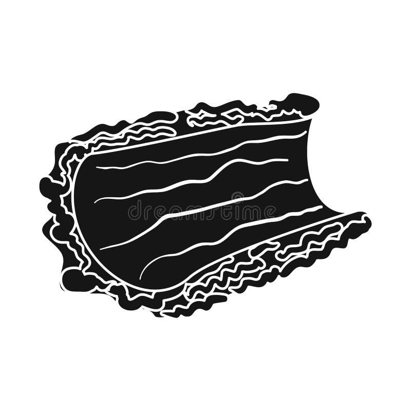 Progettazione di vettore dell'icona del pezzo e della corteccia Metta dell'illustrazione di riserva di vettore del legname e dell royalty illustrazione gratis
