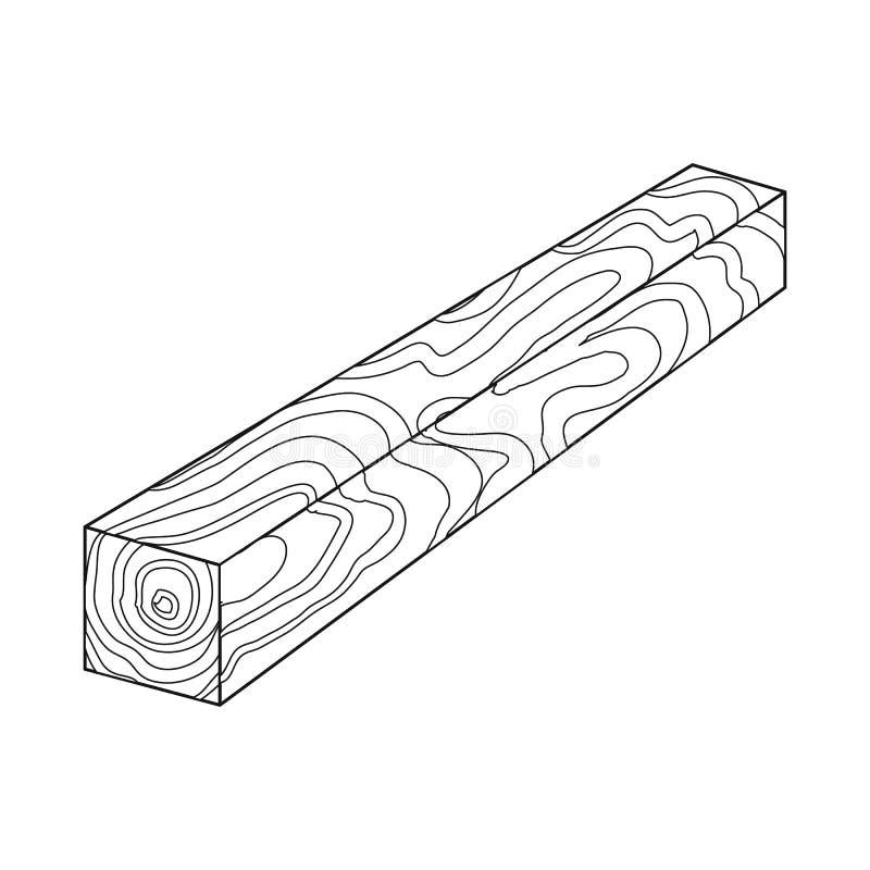Progettazione di vettore dell'icona del pezzo e del legname Metta dell'illustrazione di vettore delle azione della sezione e del  royalty illustrazione gratis