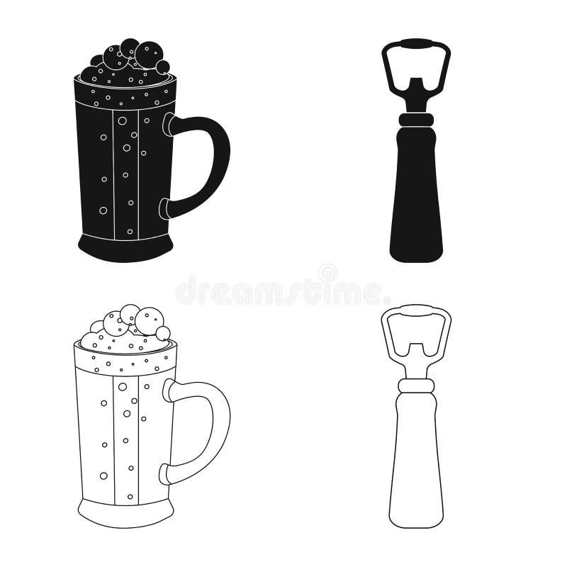 Progettazione di vettore dell'icona della barra e del pub Raccolta del pub e del simbolo di riserva interno per il web royalty illustrazione gratis