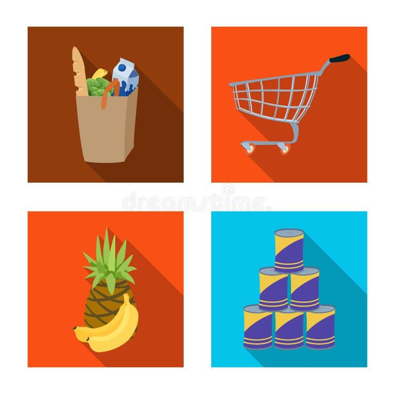 Progettazione di vettore dell'icona della bevanda e dell'alimento Raccolta dell'illustrazione di riserva di vettore del deposito  royalty illustrazione gratis