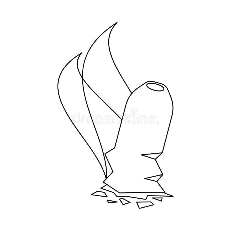 Progettazione di vettore dell'icona della cenere e del sigaro Metta dell'icona di vettore dell'ustione e del sigaro per le azione royalty illustrazione gratis