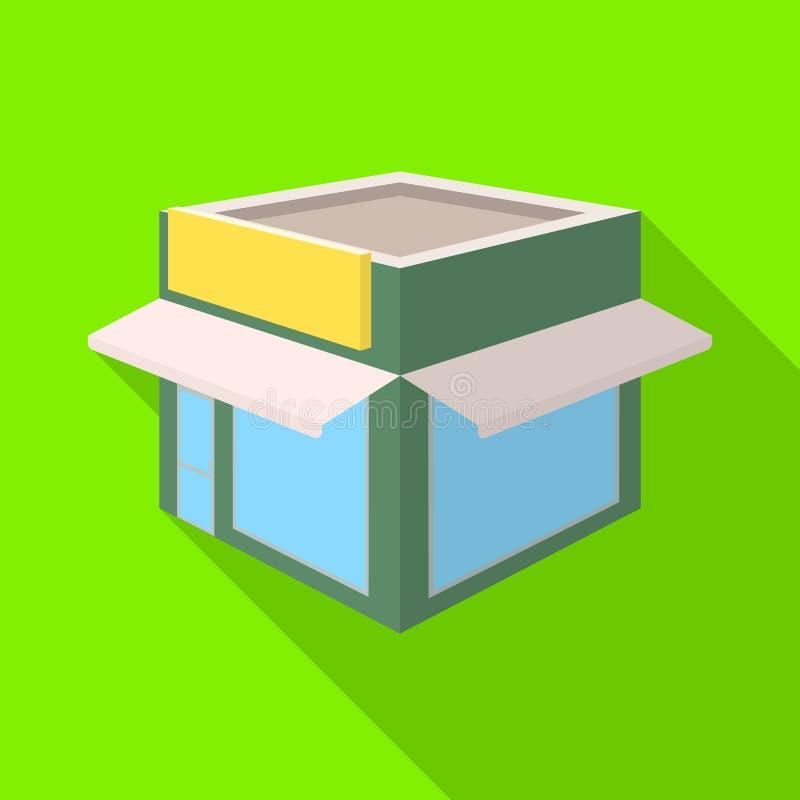 Progettazione di vettore dell'icona della libreria e del negozio Raccolta del negozio ed icona moderna di vettore per le azione illustrazione di stock