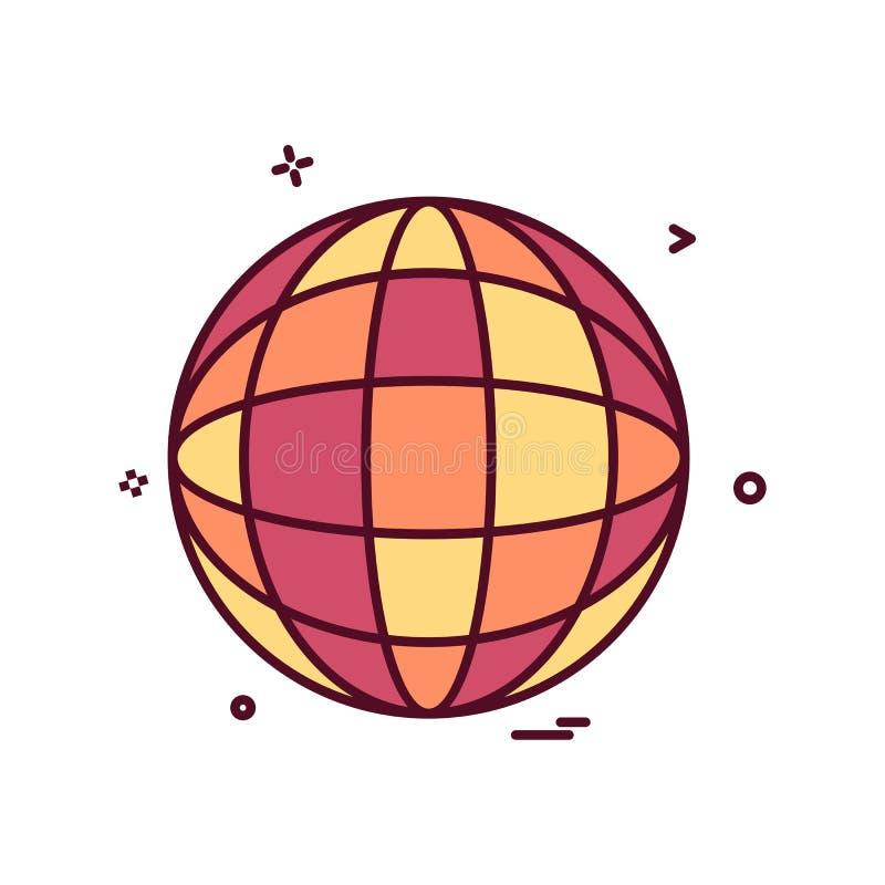 progettazione di vettore dell'icona della mappa del glob royalty illustrazione gratis