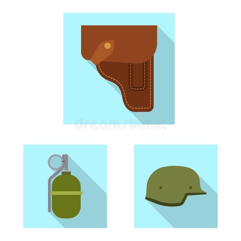 Progettazione di vettore dell'icona della pistola e dell'arma Raccolta dell'illustrazione di riserva di vettore dell'esercito e d illustrazione di stock