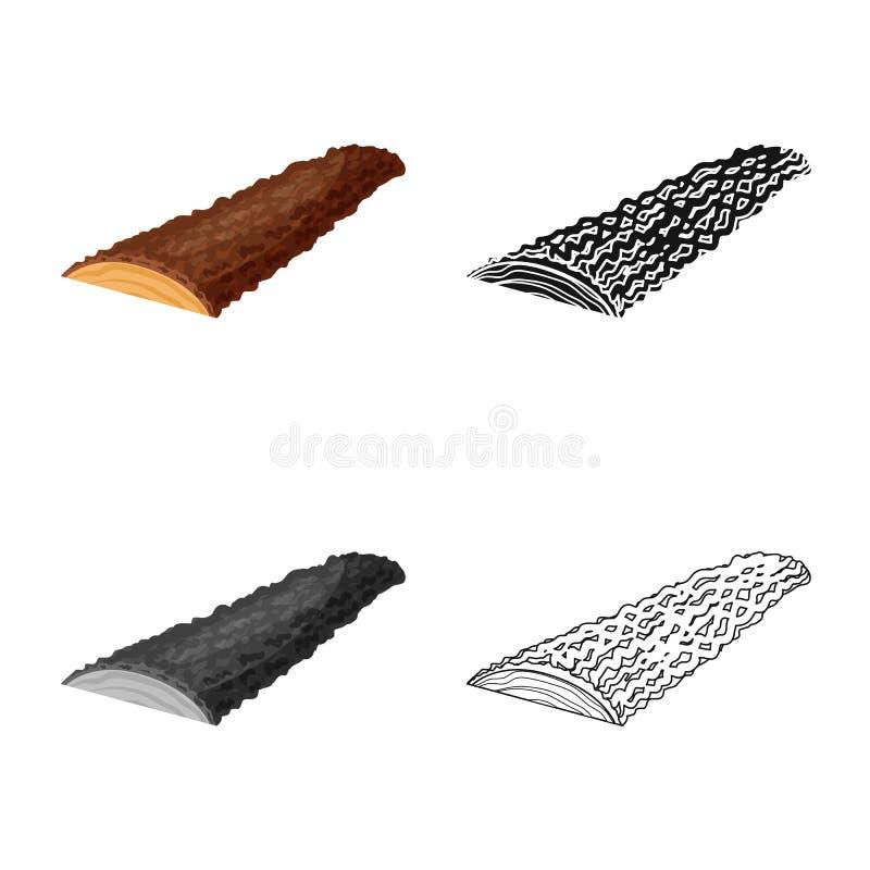 Progettazione di vettore dell'icona della segatura e del legname Metta del simbolo di riserva del pino e del legname per il web illustrazione di stock