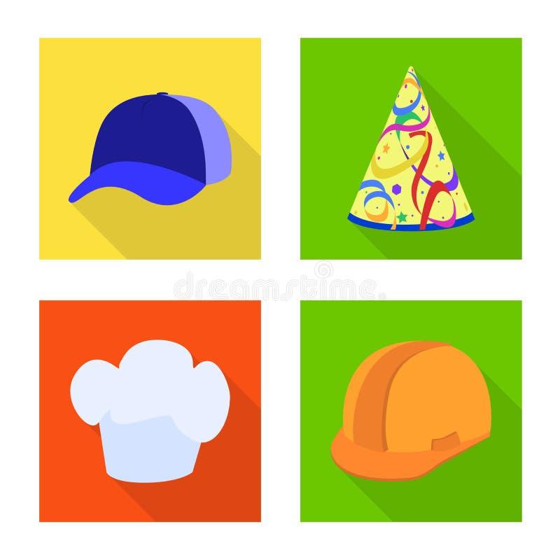 Progettazione di vettore dell'icona di professione e di modo Raccolta di modo e del simbolo di riserva del cappuccio per il web illustrazione vettoriale