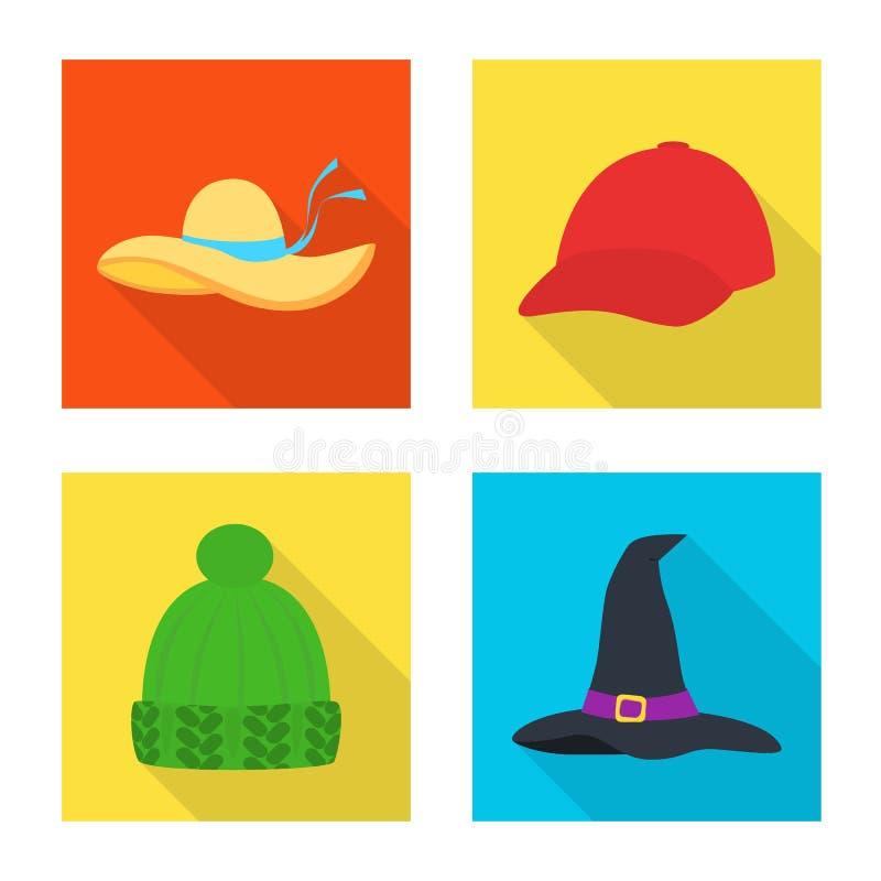 Progettazione di vettore dell'icona di professione e di modo Raccolta di modo ed icona di vettore del cappuccio per le azione illustrazione di stock