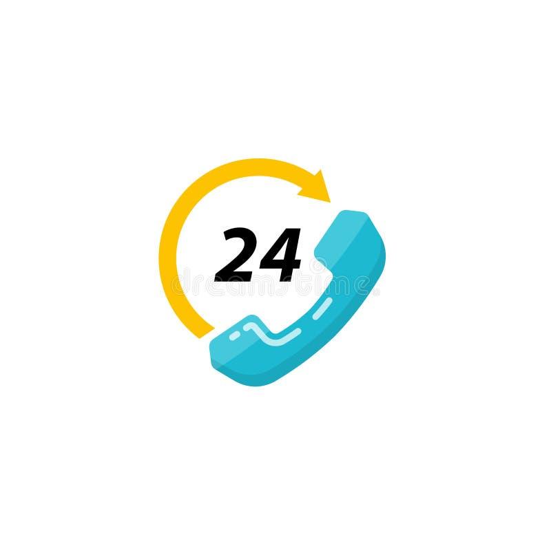 progettazione di vettore dell'icona di sostegno e del contatto progettazione dell'icona di servizio di assistenza al cliente illustrazione di stock