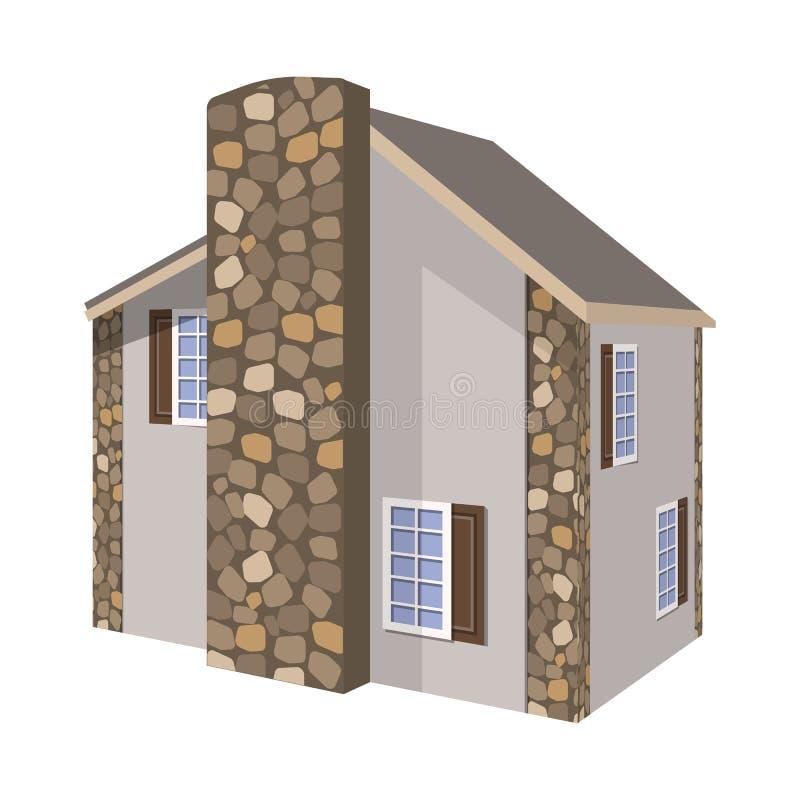 Progettazione di vettore della casa e del segno residenziale Raccolta della casa ed icona moderna di vettore per le azione royalty illustrazione gratis