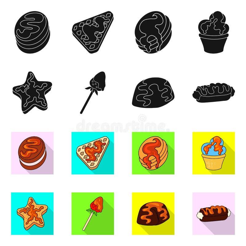 Progettazione di vettore della confetteria e del segno culinario Metta dell'icona di vettore del prodotto e della confetteria per illustrazione vettoriale