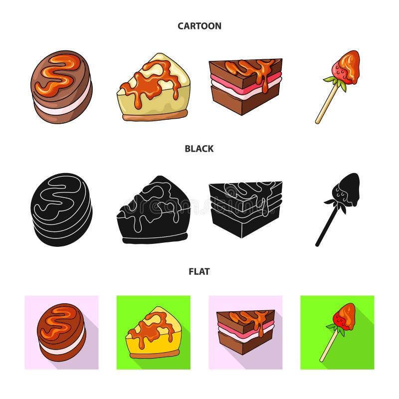 Progettazione di vettore della confetteria e del segno culinario Metta dell'illustrazione di vettore delle azione del prodotto e  royalty illustrazione gratis