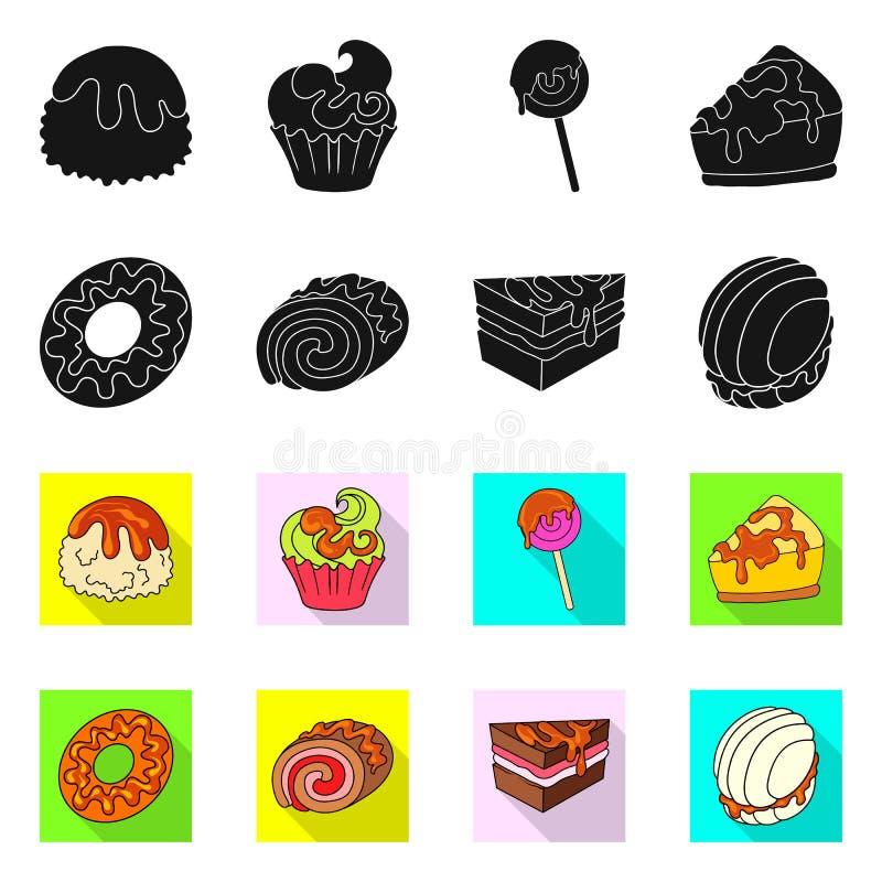 Progettazione di vettore della confetteria e del segno culinario Metta del simbolo di riserva del prodotto e della confetteria pe royalty illustrazione gratis