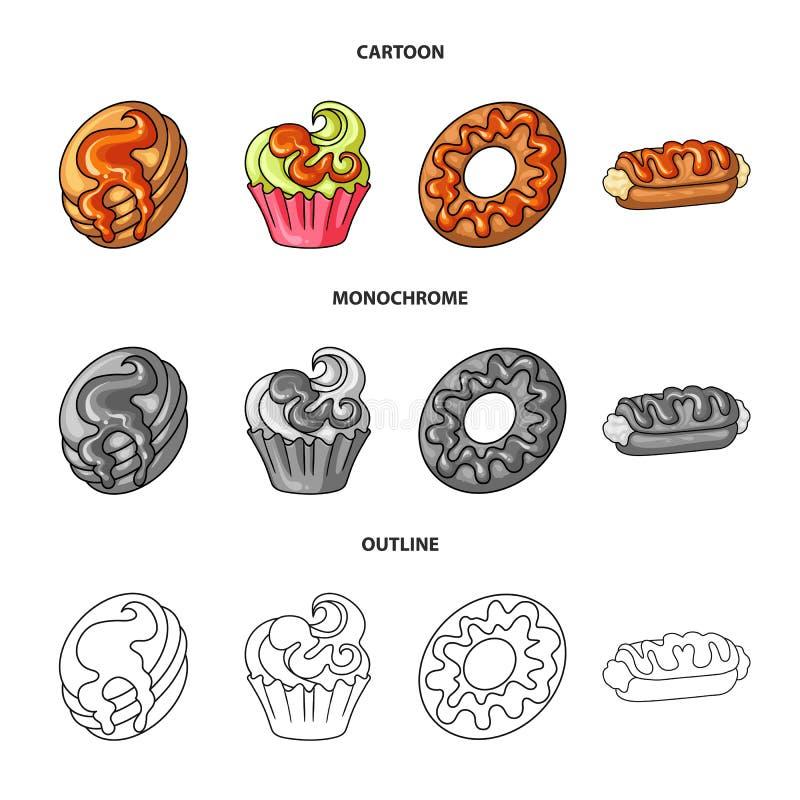 Progettazione di vettore della confetteria e del simbolo culinario Metta dell'icona di vettore del prodotto e della confetteria p royalty illustrazione gratis
