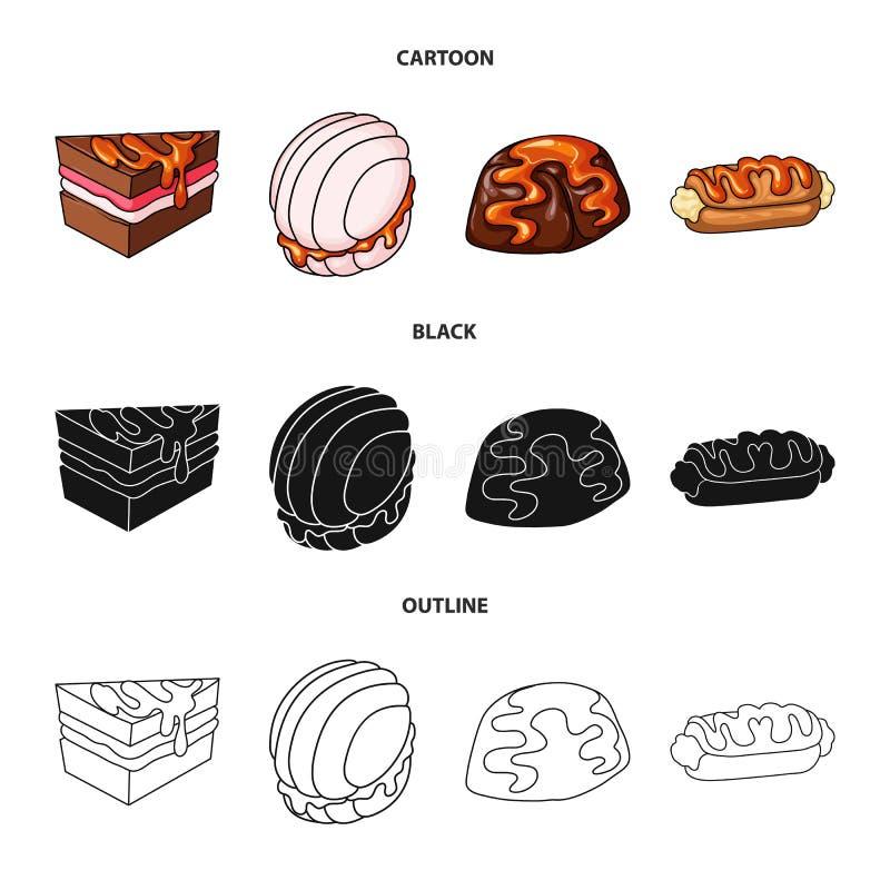 Progettazione di vettore della confetteria e del simbolo culinario Metta dell'icona di vettore del prodotto e della confetteria p illustrazione di stock