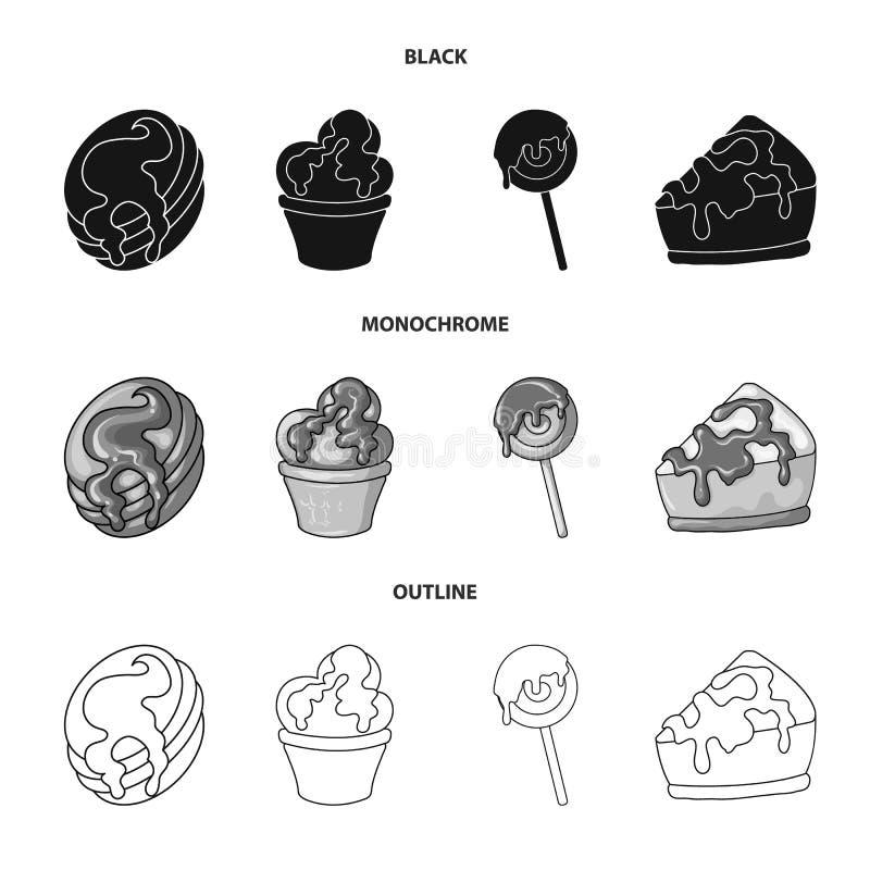 Progettazione di vettore della confetteria e del simbolo culinario Raccolta dell'icona di vettore del prodotto e della confetteri illustrazione vettoriale