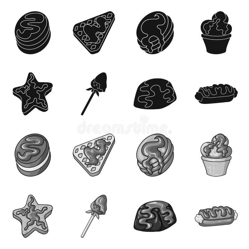 Progettazione di vettore della confetteria e del simbolo culinario Raccolta dell'illustrazione di vettore delle azione del prodot royalty illustrazione gratis