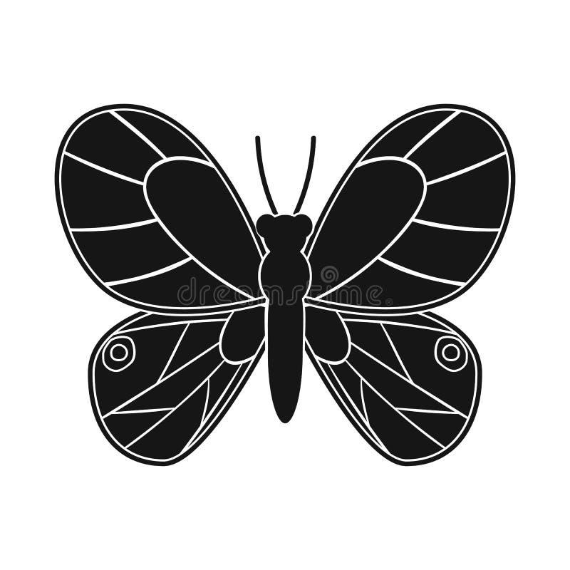Progettazione di vettore della farfalla e del simbolo giallo Raccolta della farfalla e dell'illustrazione di riserva viva di vett royalty illustrazione gratis