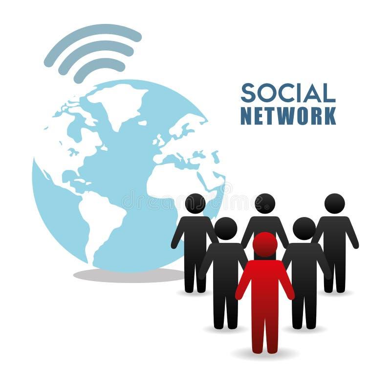 Progettazione di vettore della rete sociale royalty illustrazione gratis