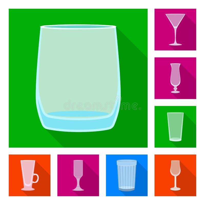 Progettazione di vettore delle bevande e dell'icona del ristorante Raccolta delle bevande e dell'illustrazione di vettore delle a illustrazione di stock