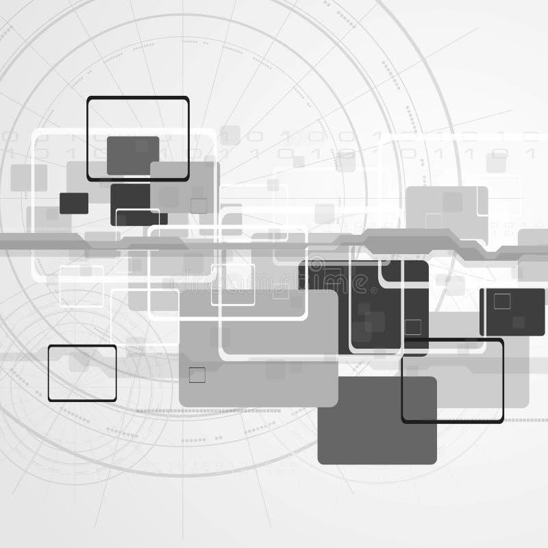 progettazione di vettore di Ciao-tecnologia illustrazione di stock
