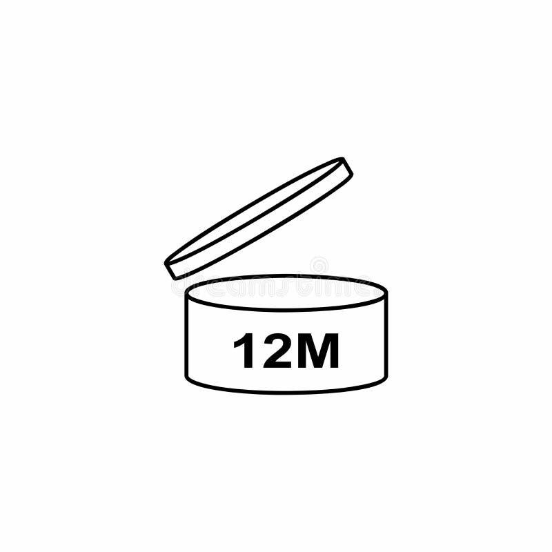 Progettazione di vettore di simbolo dei cosmetici di PAO 12M illustrazione vettoriale