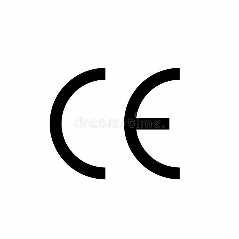 Progettazione di vettore di simbolo del segno del CE illustrazione vettoriale
