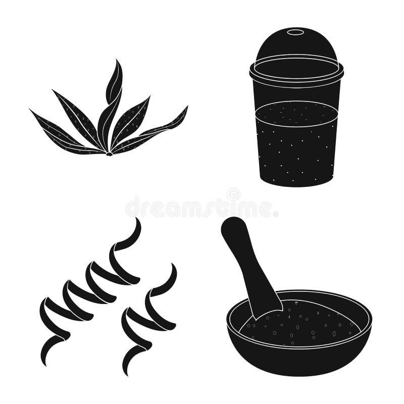 Progettazione di vettore di erba e del logo naturale Metta del simbolo di riserva dell'alga e dell'erba per il web royalty illustrazione gratis