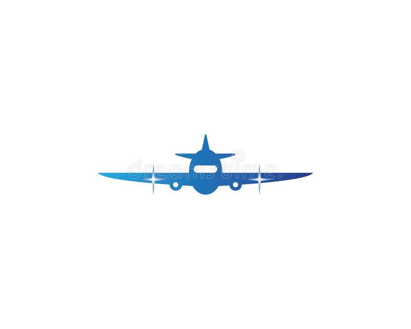Progettazione di vettore di simbolo dell'aeroplano illustrazione di stock