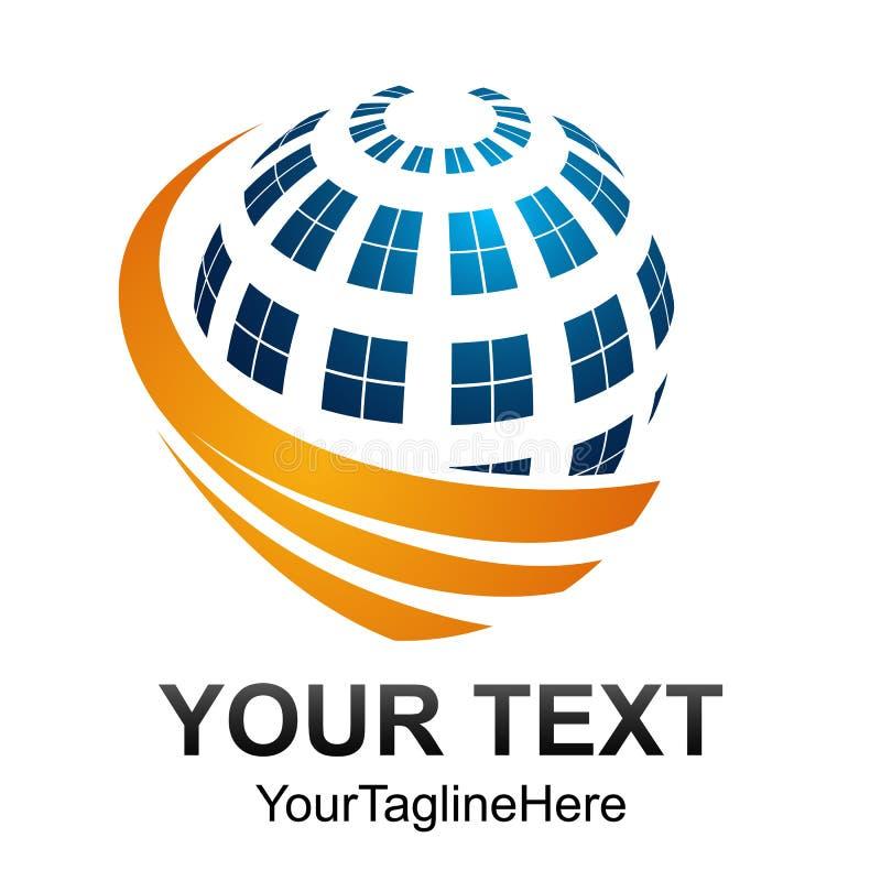 Progettazione digitale astratta creativa t di logo di vettore di tecnologia della sfera illustrazione di stock