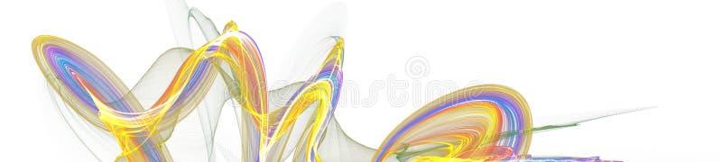 Progettazione digitale di arte grafica dell'insegna su fondo bianco illustrazione di stock