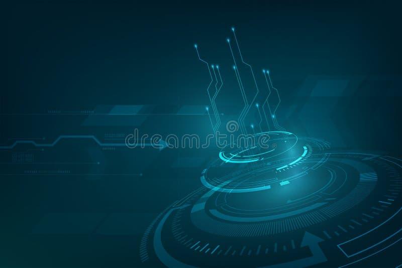 Progettazione dinamica di prospettiva del fondo di concetto di fi di sci di tecnologia di Nnovation royalty illustrazione gratis