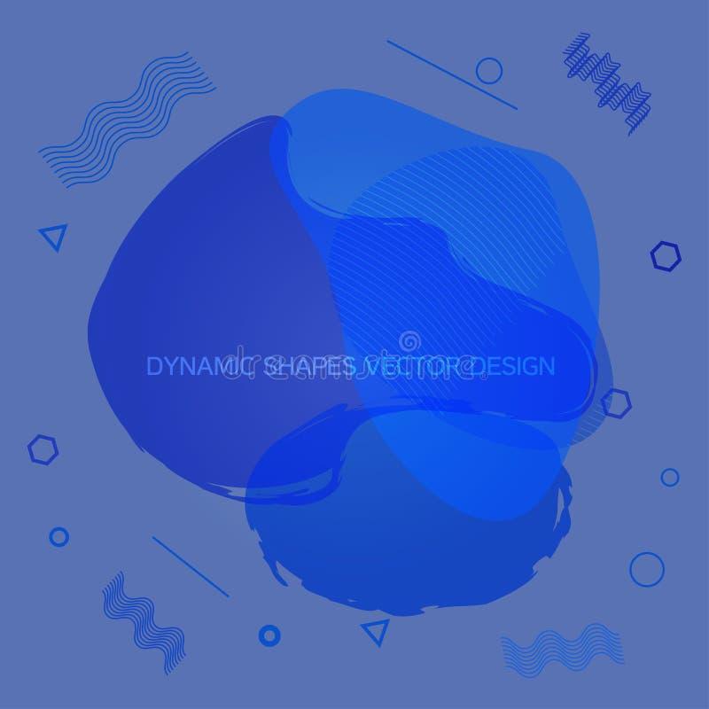 Progettazione dinamica fluida di vettore di forme illustrazione di stock