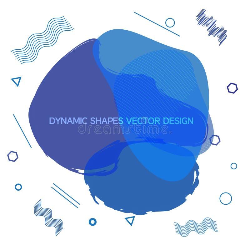 Progettazione dinamica fluida di vettore di forme illustrazione vettoriale