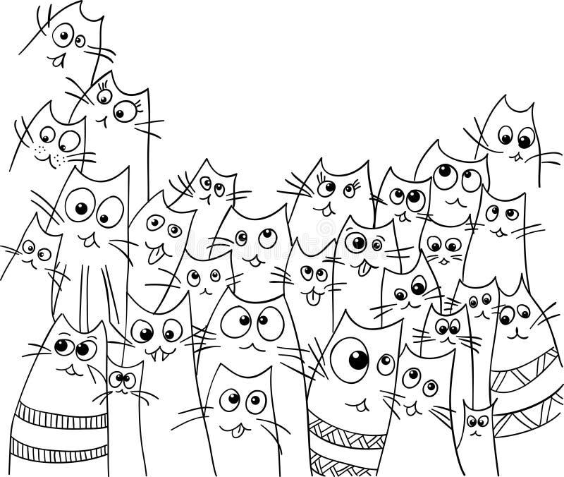 Progettazione divertente dei gatti illustrazione di stock