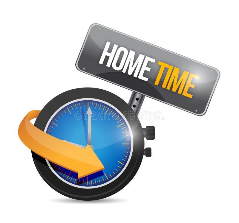 Progettazione domestica dell'illustrazione dell'orologio di tempo illustrazione vettoriale