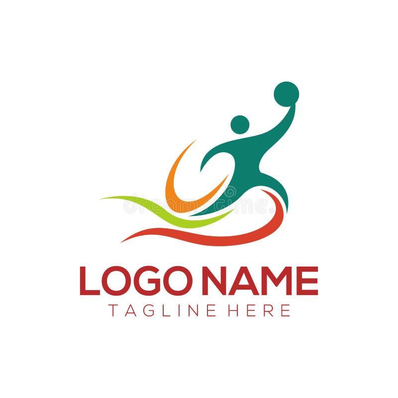 Progettazione ed icona di logo di sport illustrazione vettoriale
