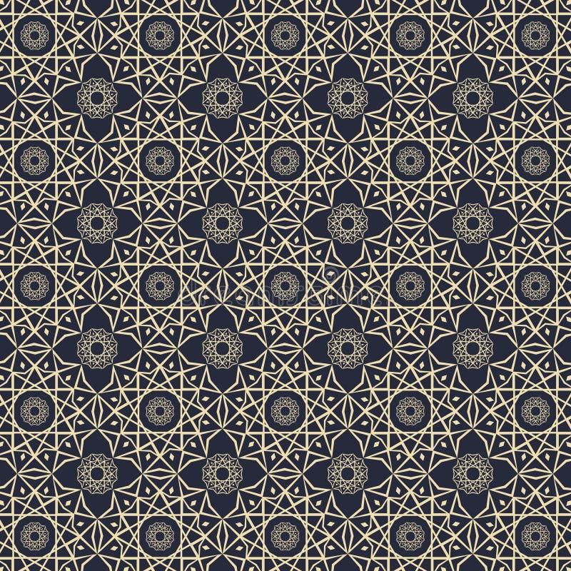 Progettazione elegante di vettore del fondo del modello di concetto islamico dell'elemento illustrazione di stock