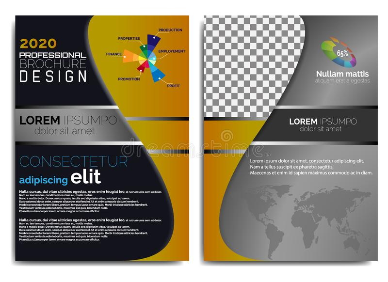 Progettazione elegante, moderna e professionale dell'opuscolo illustrazione vettoriale