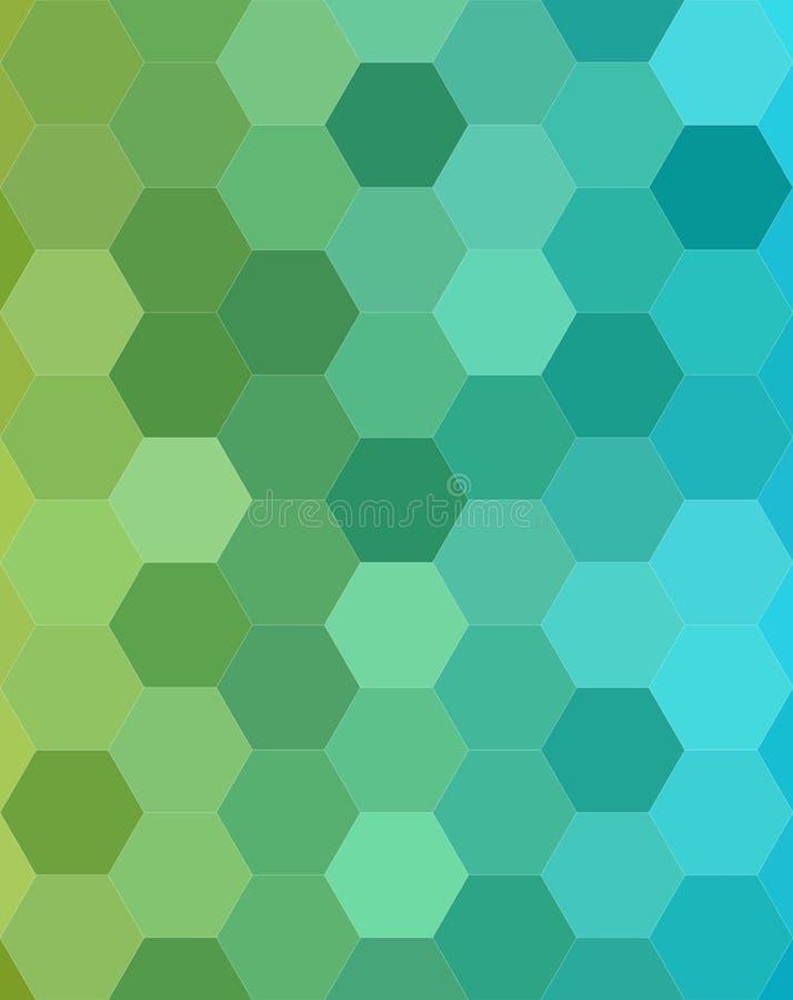 Progettazione esagonale astratta del fondo del mosaico delle mattonelle illustrazione di stock