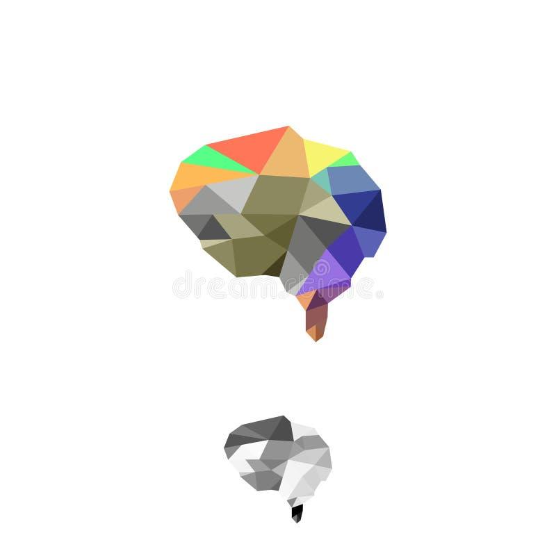 Progettazione esclusiva, moderna ed unica di Brain Logo, immagine stock