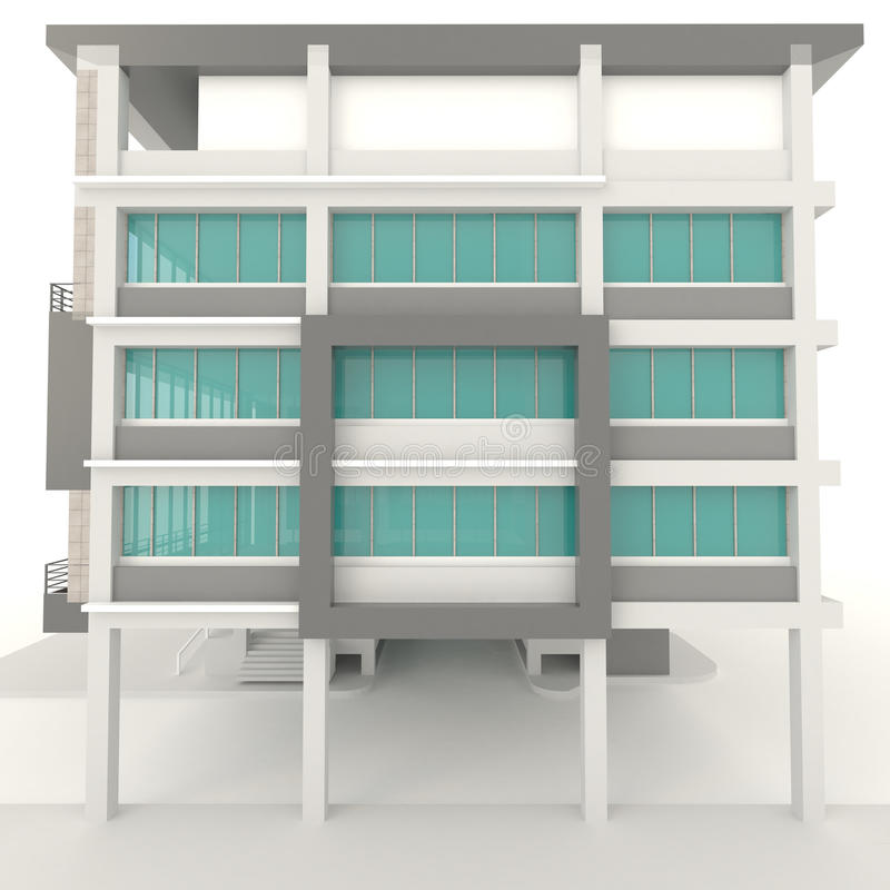 Progettazione esteriore 3d di architettura moderna dell for Progettazione di architettura online