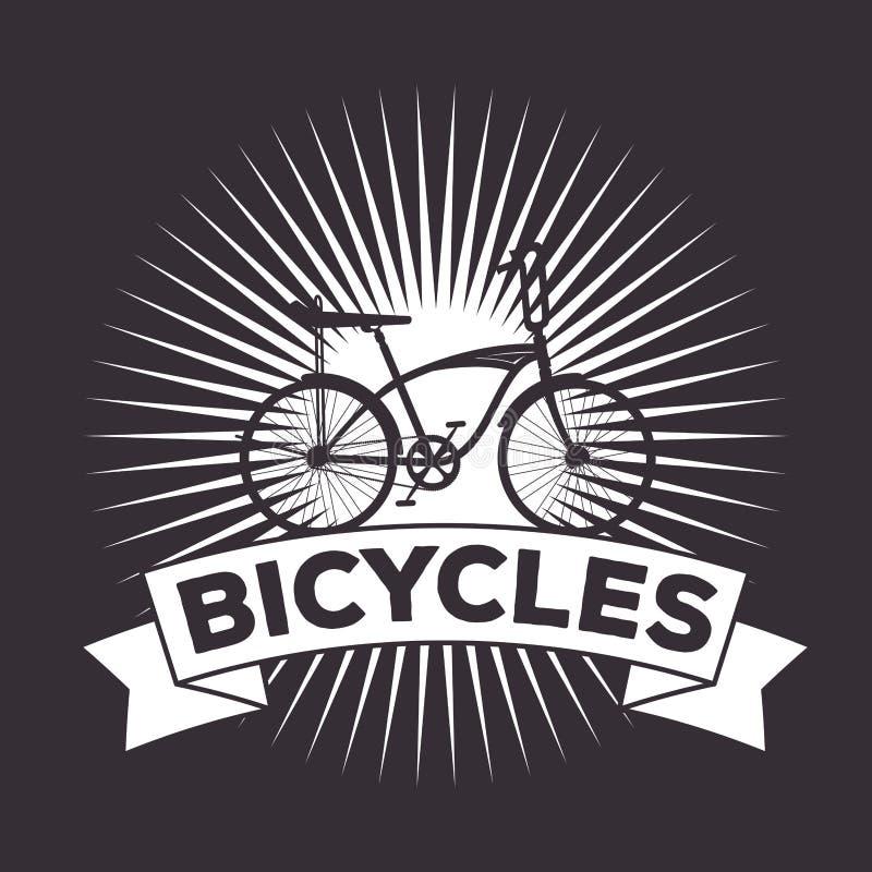 Progettazione estrema di trasporto di sport della bicicletta illustrazione vettoriale