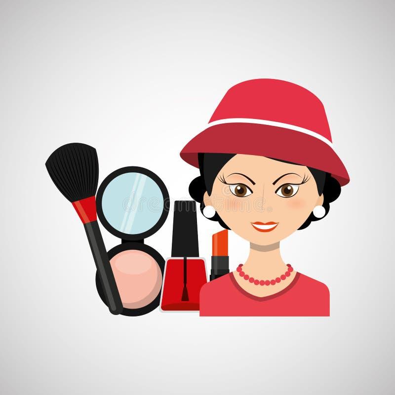 progettazione femminile di trucco royalty illustrazione gratis