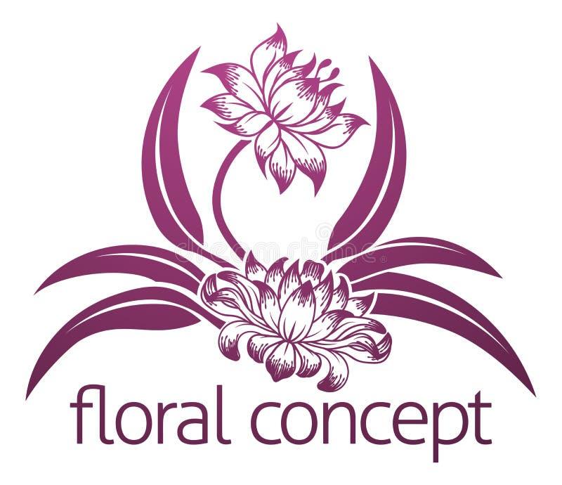 Progettazione floreale del fiore illustrazione vettoriale