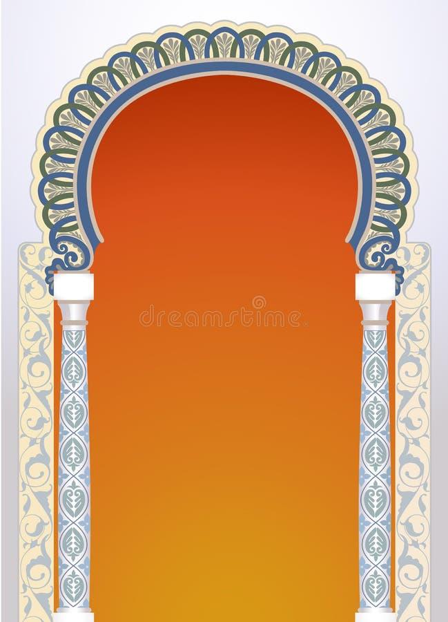 Progettazione floreale dell'arco illustrazione di stock