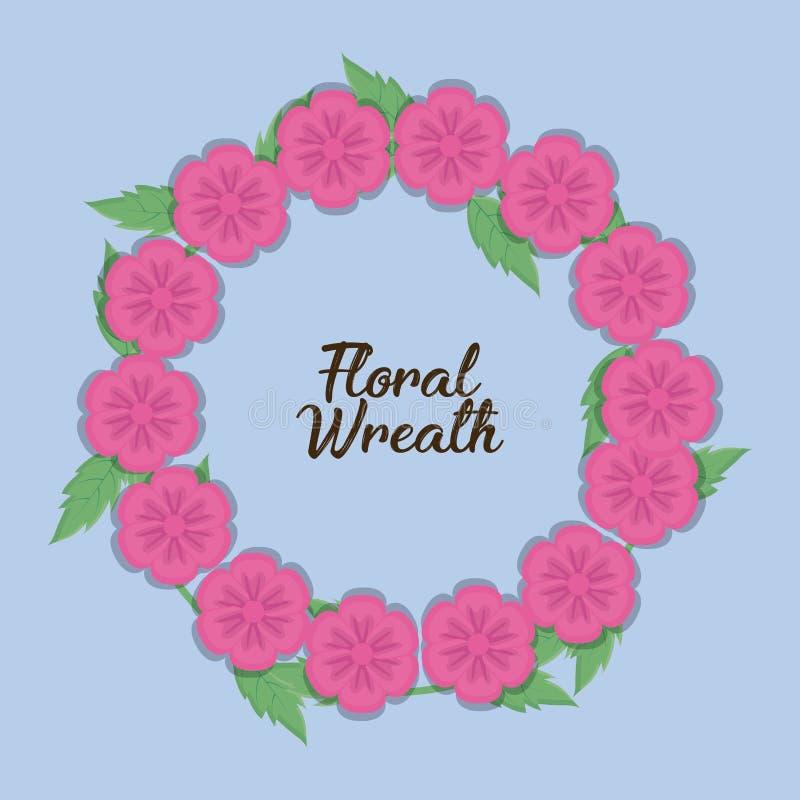 Progettazione floreale della corona royalty illustrazione gratis